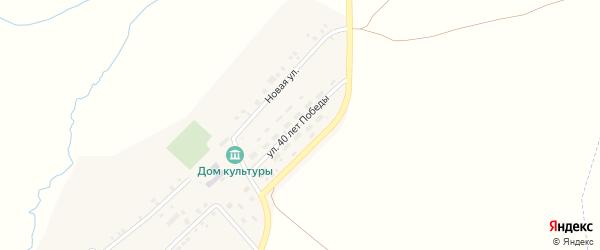 Улица 40 лет Победы на карте деревни Чадукасы с номерами домов