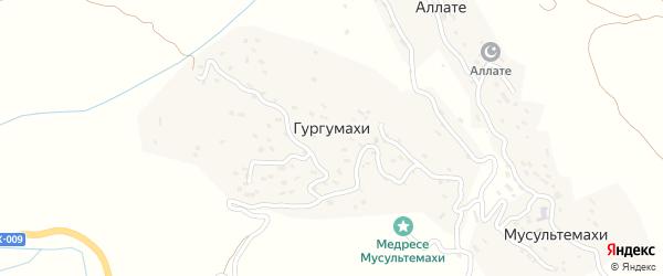Улица М.Расулова на карте хутора Гургумахи с номерами домов