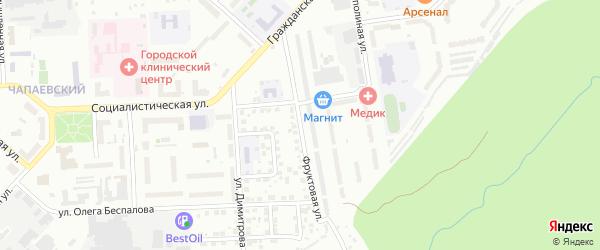 Фруктовая улица на карте Чебоксар с номерами домов