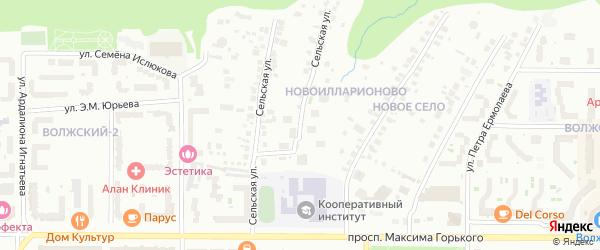 Сельская улица на карте Чебоксар с номерами домов