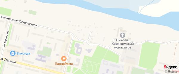 Слободская улица на карте Коряжмы с номерами домов