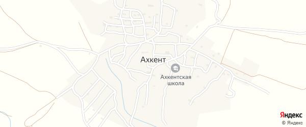 Улица Цебе хур на карте села Ахкента с номерами домов