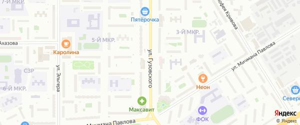 Улица Гузовского на карте Чебоксар с номерами домов