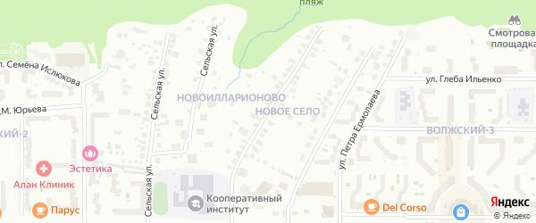 Новоилларионовская улица на карте Чебоксар с номерами домов