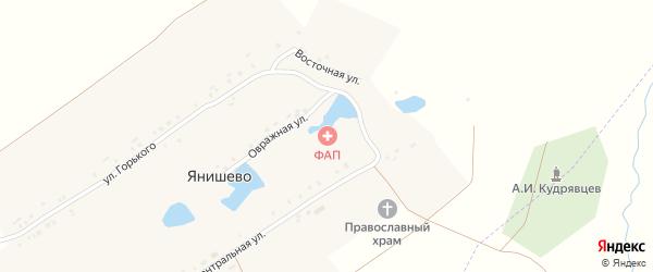 Центральная улица на карте села Янишево с номерами домов