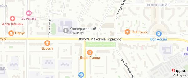 Проспект Максима Горького на карте Чебоксар с номерами домов
