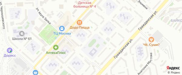 Юго-Западный бульвар на карте Чебоксар с номерами домов