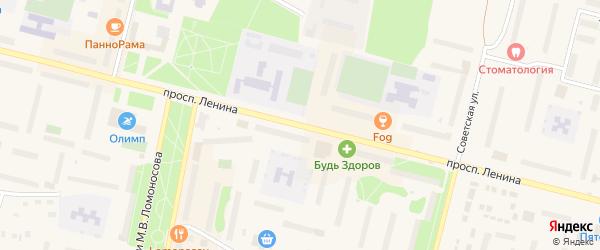 Проспект Ленина на карте Коряжмы с номерами домов