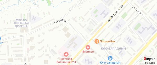 Улица Эльменя на карте Чебоксар с номерами домов