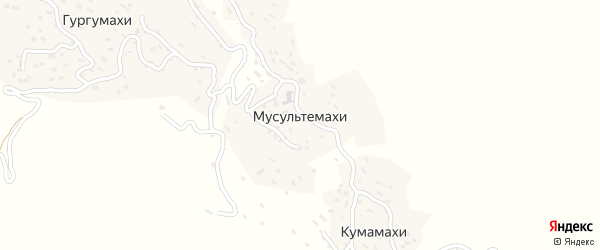 Улица М.Ашурлаева на карте села Мусультемахи с номерами домов