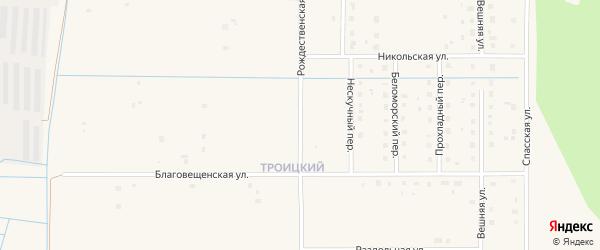 Рождественская улица на карте Коряжмы с номерами домов