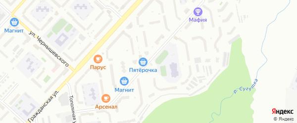 Бульвар А.Миттова на карте Чебоксар с номерами домов