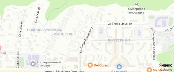 Улица Петра Ермолаева на карте Чебоксар с номерами домов