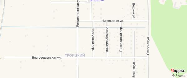 Нескучный переулок на карте Коряжмы с номерами домов