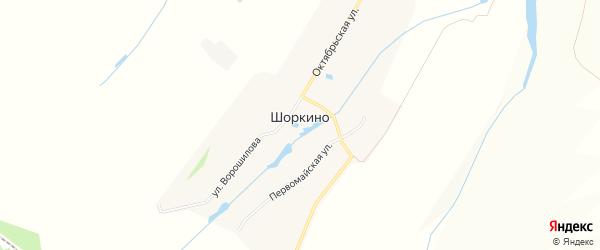 СТ Шоркино на карте Кшаушского сельского поселения с номерами домов