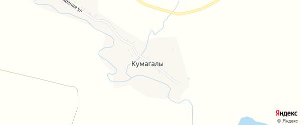 Луговая улица на карте деревни Кумагалы с номерами домов