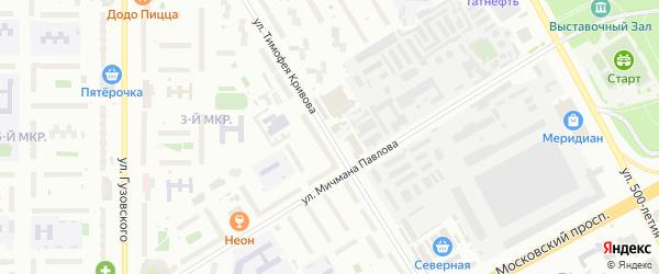 Улица Т.Кривова на карте Чебоксар с номерами домов