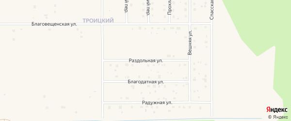 Раздольная улица на карте Коряжмы с номерами домов