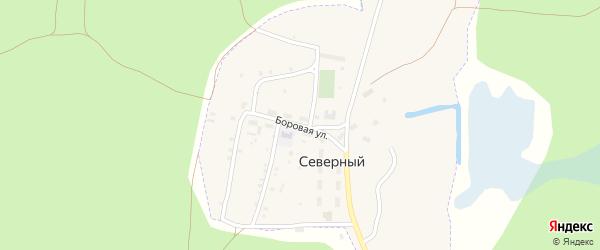 Боровая улица на карте Северного поселка с номерами домов