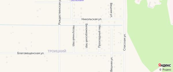 Беломорский переулок на карте Коряжмы с номерами домов