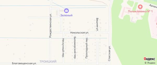 Никольская улица на карте Коряжмы с номерами домов