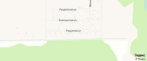 Радужная улица на карте садового некоммерческого товарищества Садоводы Севера с номерами домов