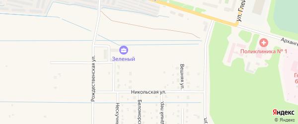 Строгановская улица на карте Коряжмы с номерами домов