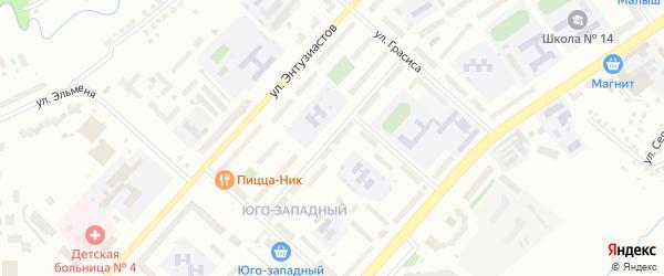 Улица Композитора Максимова на карте Чебоксар с номерами домов