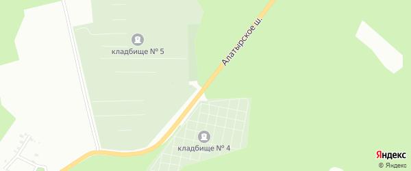 Алатырское шоссе на карте Чебоксар с номерами домов