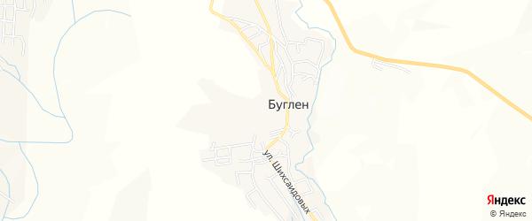 Карта села Буглена в Дагестане с улицами и номерами домов