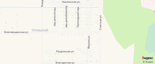 Благовещенская улица на карте Коряжмы с номерами домов