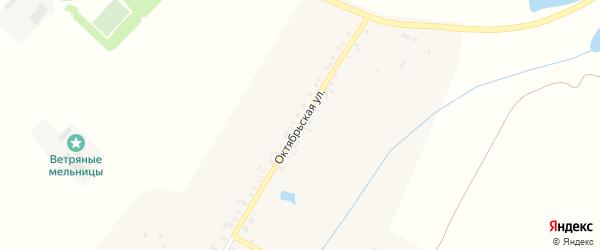 Октябрьская улица на карте деревни Шоркино с номерами домов