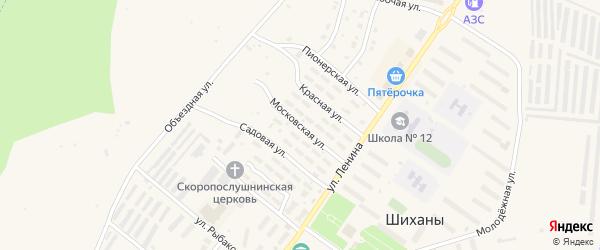 Московская улица на карте Шиханы с номерами домов