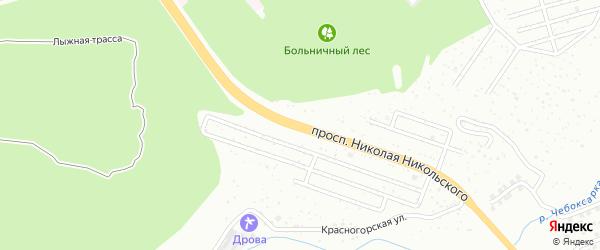 Проспект Н.Никольского на карте Чебоксар с номерами домов