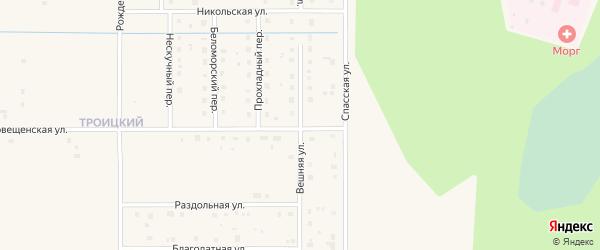 Вешняя улица на карте Коряжмы с номерами домов