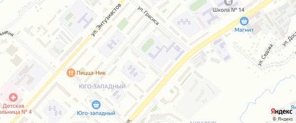 Улица Яноушека на карте Чебоксар с номерами домов