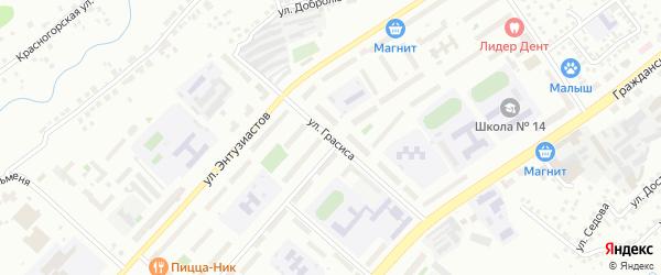Улица Грасиса на карте Чебоксар с номерами домов
