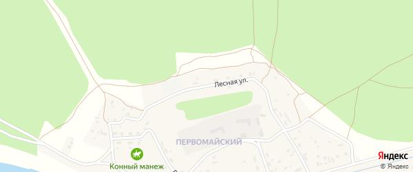 Лесная улица на карте поселка Сосновки с номерами домов