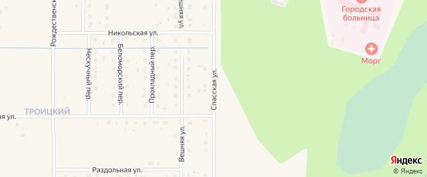 Спасская улица на карте Коряжмы с номерами домов
