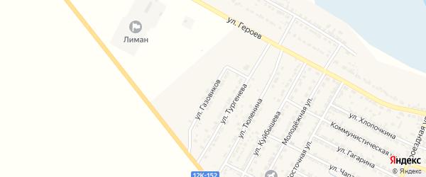 Улица Газовиков на карте поселка Лимана с номерами домов
