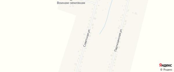 Советская улица на карте деревни Старых Чукалы с номерами домов