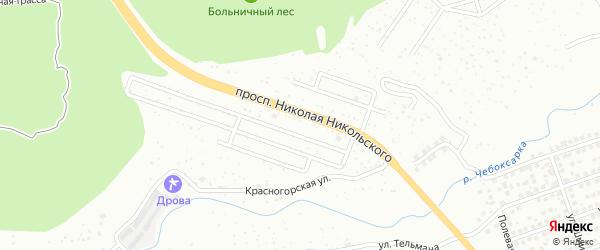 Территория сдт Рассвет на карте Чебоксар с номерами домов