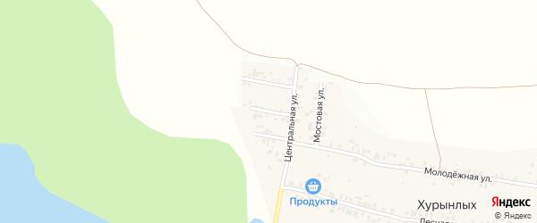 Новая улица на карте деревни Хурынлых с номерами домов