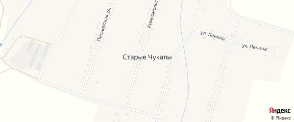 Улица Сосновка на карте деревни Старых Чукалы с номерами домов