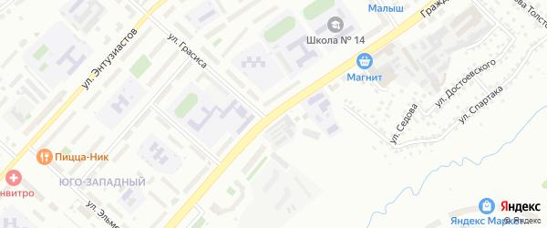Гражданская улица на карте Чебоксар с номерами домов
