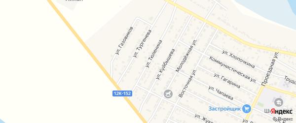 Улица С.Тюленина на карте поселка Лимана с номерами домов