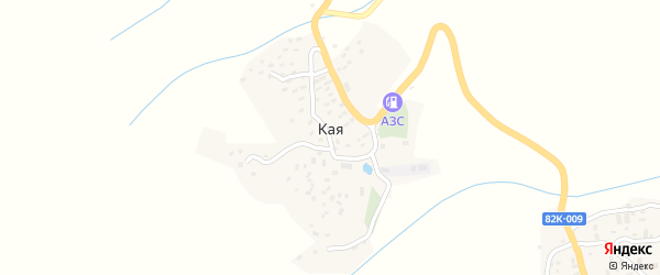 Речная улица на карте села Кая с номерами домов