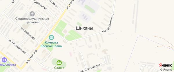 Молодежная улица на карте Шиханы с номерами домов