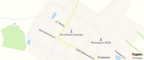 Улица Мира на карте деревни Елмачи с номерами домов