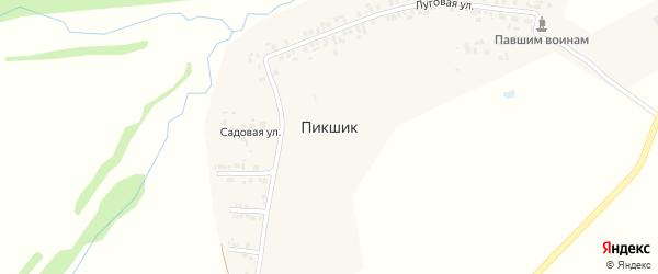 Солнечная улица на карте деревни Пикшика с номерами домов